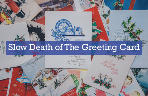 Image of sleep death of greeting cards